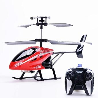 Harga 2.5 Channel Mini Remote Control Helicopter Remote Control Electric LED Head Light Outdoor Helicopter Toys - intl