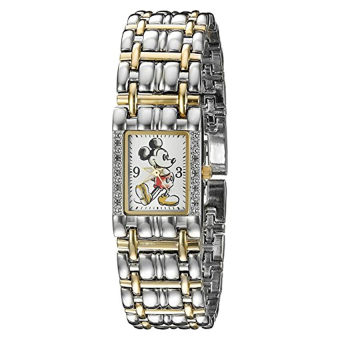 Disney Mickey Mouse Women's W002511 Mickey Mouse Two-Tone Watch - Intl