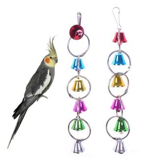 Harga Cocotina Colorful Bell Chain Parrot Bird Chew Toy Colorful Play Bell Fancy Beads Pet