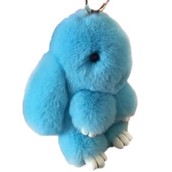 Harga 18 cm Dengan Bulu Kelinci Imut Kelinci Mini Keychain Pasangan Mainan Tas .