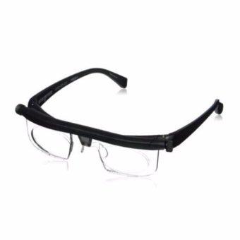 HengSong Unisex Adjustable Focal Length Resin Retro Vintage Elders Reading Glasses Presbyopic Glasses - intl