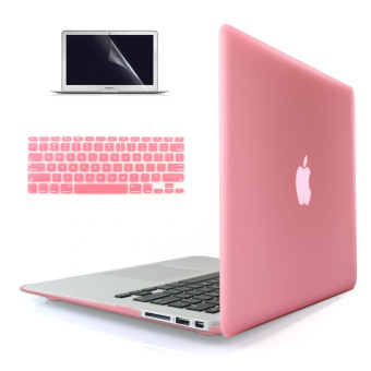 "Harga Welink 3 in 1 Apple MacBook Air 11"" Case / Soft-Touch Plastic Hard Case Cover + Keyboard Cover + Screen Protector for Macbook Air 11'' (Pink)"