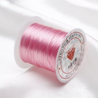 Harga Okdeals 0.8mm 10m Elastic Stretch Jewelery Bracelet Making Beading Thread Cord String Pink