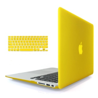"Harga Welink 3 in 1 Matte Apple MacBook Air 13"" Case / Soft-Touch Plastic Hard Case Cover + Anti-dust Plug + Keyboard Cover for Macbook Air 13'' [ Models: A1369 / A1466 ] (Yellow)"