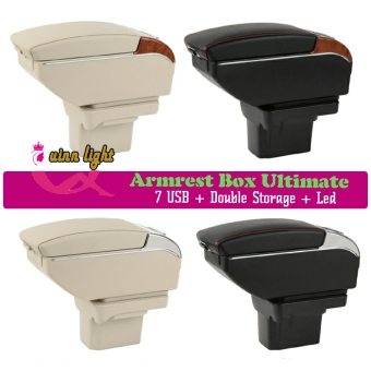 Harga Armrest Box Ultimate Nissan March 7 USB + Double Storage + Led