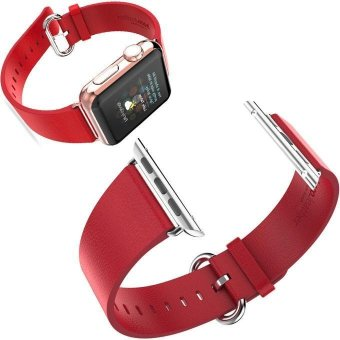 Harga HOCO Genuine Leather Strap Classic Buckle Adapter for Apple Watch 42MM - intl