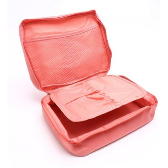 Harga Cosmetic Bag Organizer - Peach