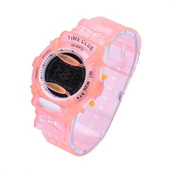 Harga Boys Girls Children Students Waterproof Digital Wrist Sport Watch Red - intl