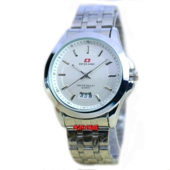 Swiss Army - SA6089M - Jam Tangan pria - Stainless Steel - Silver Putih