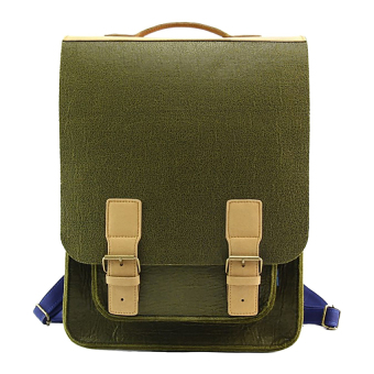 M.R.K.T. Kendrick Backpack - Olive Green-Pacific Blue