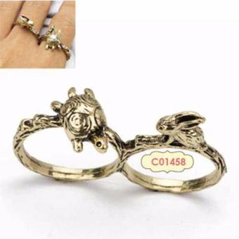 Harga LRC Cincin Turtle rabbit retro ring