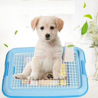 Harga Puppy Dog Indoor Toilet Pee Training Pad Tray Cats Pet Potty Toilet Cleaning Pot- blue - intl