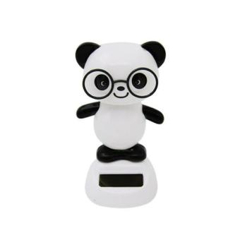 Harga BolehDeals Solar Powered Dancing Flip Flap Car Home Desk Dancer Bobble Toy Panda - intl