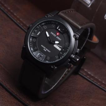 Harga Swiss Army SA2494CM Jam Tangan Casual Pria Analog Wacth Leather Strap