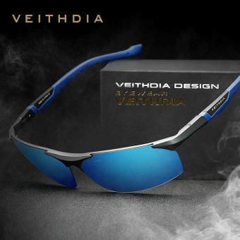 Biru Source VEITHDIA magnesium aluminium kacamata hitam olahraga laki laki itu lapisan cermin .