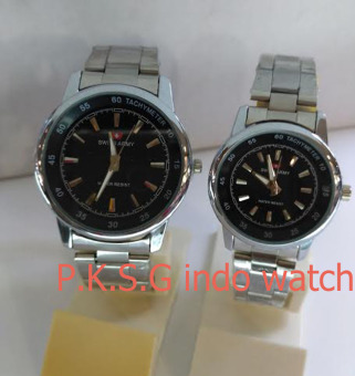 Jual Swiss Army Couple Stainless Steel Black Sa Rz 54321