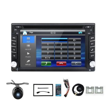 Harga 2 Din Car DVD Player GPS Navigation In Dash Car PC Stereo Head Unit Video 100% New Universal Car Radio Free Map Free Cam (Intl)