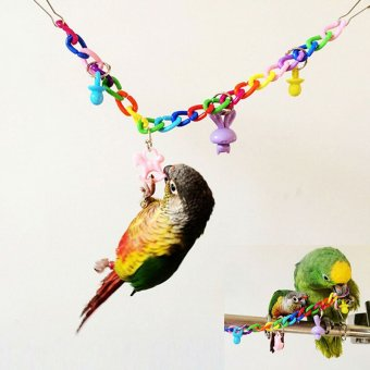 Harga Pet Bird Bites Toy Parrot Chew Toys Swing Cages For Cockatiel Conure - intl