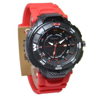 Igear Jam Tangan Pria - Merah-Hitam - Rubber strap - IG615
