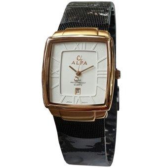 Alfa AL88071L-T Jam Tangan Wanita Stainless Steel Putih Rose Gold
