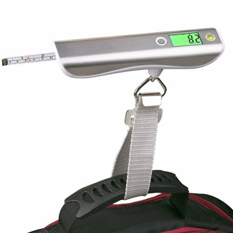 Harga Luggage Scale, ON THE WAY Hand Scales with Tape Measure for Travel Baggage Weight - intl