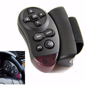 Harga Remot Kontrol IR Stir Mobil CD DVD TV MP3 Steering RC Remote Control Diputar Langsung dari Setir Aksesoris Interior Mobil Car Accessories Kontrol Lagu Musik Smart Chip Mudah Dipasang Easy to Drive and Enjoy Music - Hitam