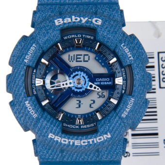 Harga Casio Baby-G BA-110DC-2A2 Blue Ladies Watches Resin Band Fashion