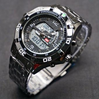Harga Swiss Army - Dual-Time- Jam Tangan Pria - SA-3311M Black