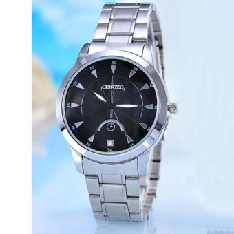 Harga Cenozo - Jam Tangan Wanita Body Silver - Black Dial - Silver Stainless Steel Band - CNZ-RT-8207-L-SB - Stainless Steel Band