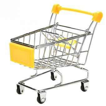 Harga Parrot Supermarket Shopping Cart Kids Intelligence Growth Funny Toy Storage Yellow - intl