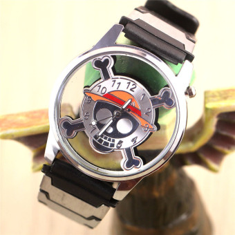 Harga 'Anime Boys'' One Piece Skeleton Hollow Watches(Color:as Pic) - intl'