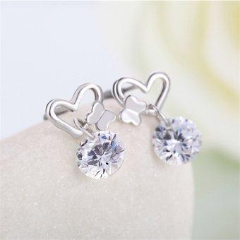 Jetting Buy Perempuan Keping Berlapis Kristal Zirkon Kupu-Kupu Baik Mode Perhiasan Tindik Anting-