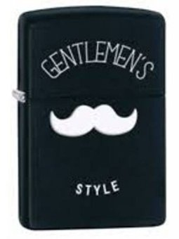 Harga Zippo Lighter 28663 Gentlemens Style Black Original USA