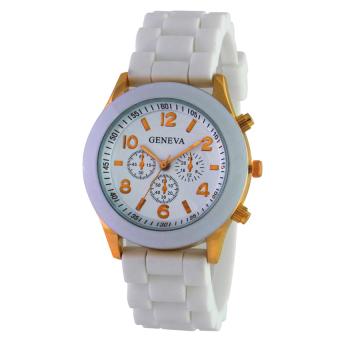 Geneva Ladies Cosmo Jam Tangan Wanita - Resin - Putih - GNV LC 0086\nWhite