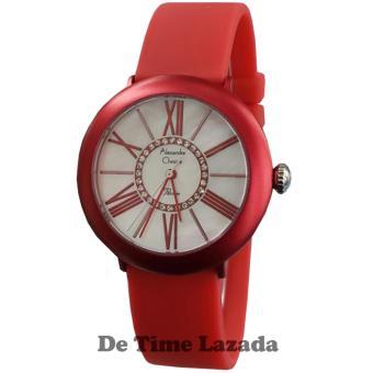 Alexandre Christie AC2841L Jam Tangan Wanita Strap Rubber Merah