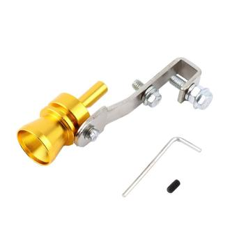 Harga Beau Universal Car Turbo Sound Whistle Simulator Sound Pipe Exhaust Muffler Pipe gold - intl