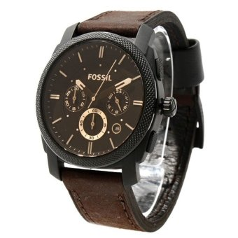 Harga Fossil - Jam Tangan Pria - Leather Strap - Fossil FS4656 Brown