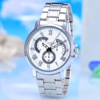 Harga Cenozo Jam Tangan Wanita - Body Silver- WhiteDial- Stainless Stell Band -CNZ-RT- 8385A-L-SW