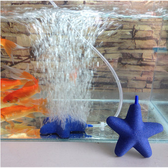 Harga 50mm Star Shape Air Stone Bubble For Aquarium Fish Tank Hydroponics Aerator New Blue - intl