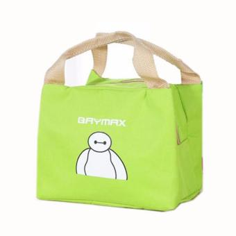 Harga Insulated Cooler Bag Handbag, Storage Bag, Portable Lunch Dinner Bag Container Box Carry Totes Pouch Character Baymax Green