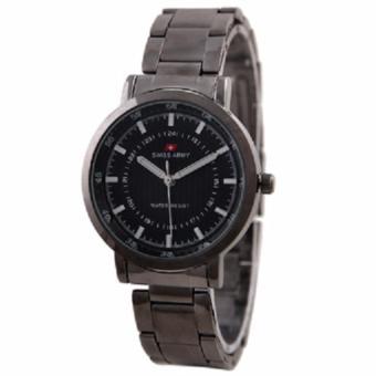 Swiss Army - Jam Tangan Wanita - Rantai Stainless Steel - Dial Black - SA33340CHIL