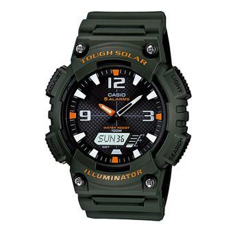 Harga Casio Watch Solar Powered Green Resin Case Resin Strap Mens NWT + Warranty AQ-S810W-3A