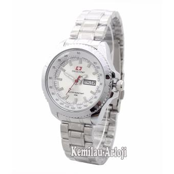 Swiss Army - SA3067LT - Jam Tangan Wanita - Stainless (Silver Inside Putih)
