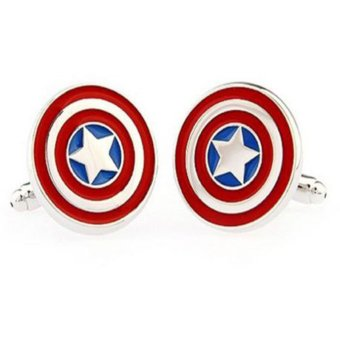 Harga Okdeals Men Shirt Square DC Marvel Groom Super Hero Cuff Links Captain America
