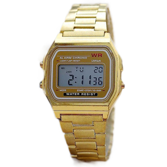 Harga ETOP Gold & Silver Couple Watch Electronic Digital Clock With Led Light Clock (Gold)