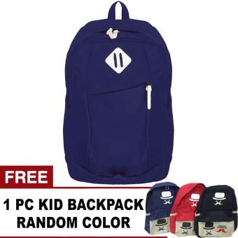 Harga Bag & Stuff Sonic Laptop Backpack + FREE 1pc French Mustache Random Color Backpack