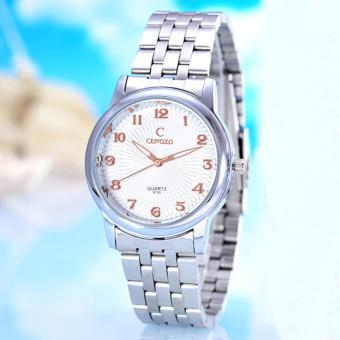Harga Jam Tangan Pria Cenozo-Body Silver White/Rose Dial - CNZ-8130A-G-PP/SW-STAINLESS STELL BAND
