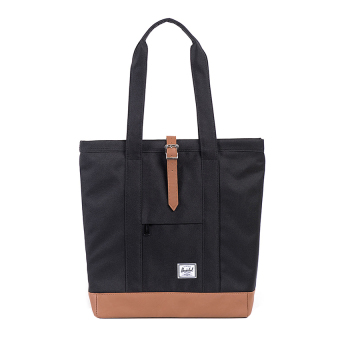 Harga Herschel Market Classic Tote - Hitam-Tan Synthetic Leather