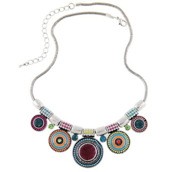 Harga Cocotina Fashion Lady Bohemia Ethnic Style Pendant Charm Chain Choker Chunky Statement Bib Necklace – Multicolor