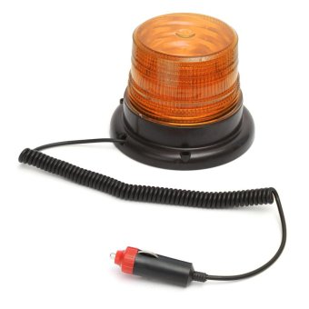 Harga Hot DC12V Car Truck Magnetic Warning flash beacon Strobe Emergency light Police lights lamp Amber - intl